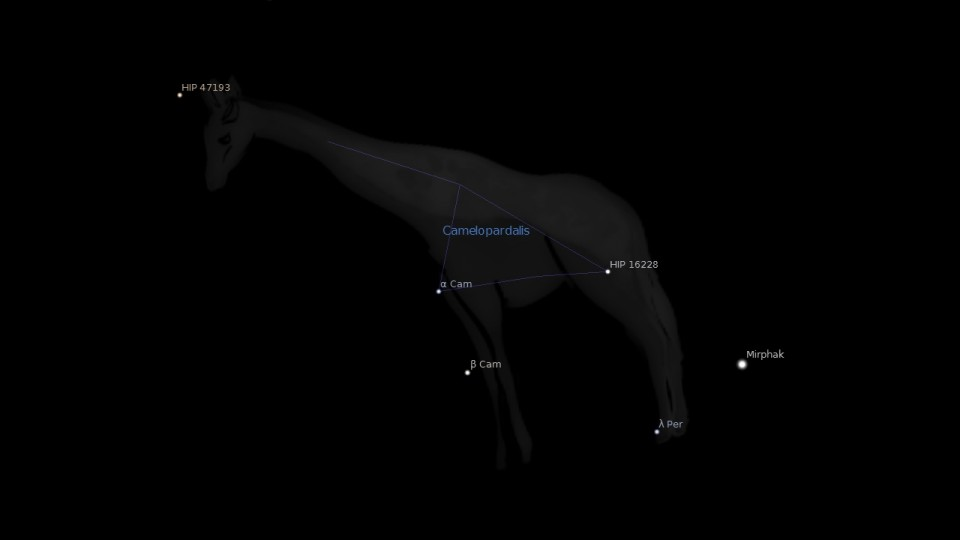 Camelopardalis Constellation