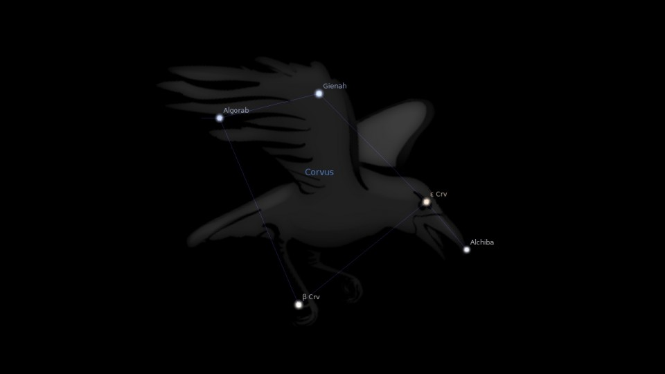 Constellation Corvus Astrology