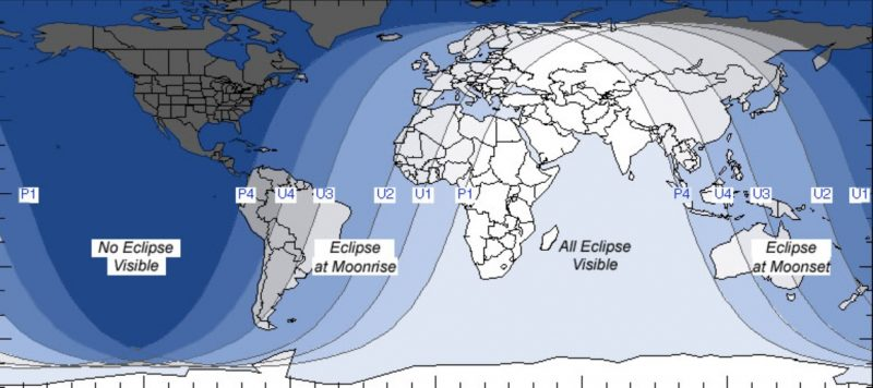 Lunar Eclipse July 2018 Path