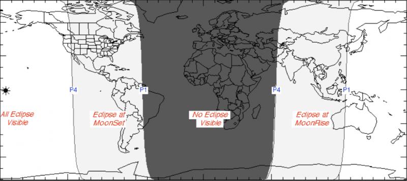 Lunar Eclipse March 2016 Visibility