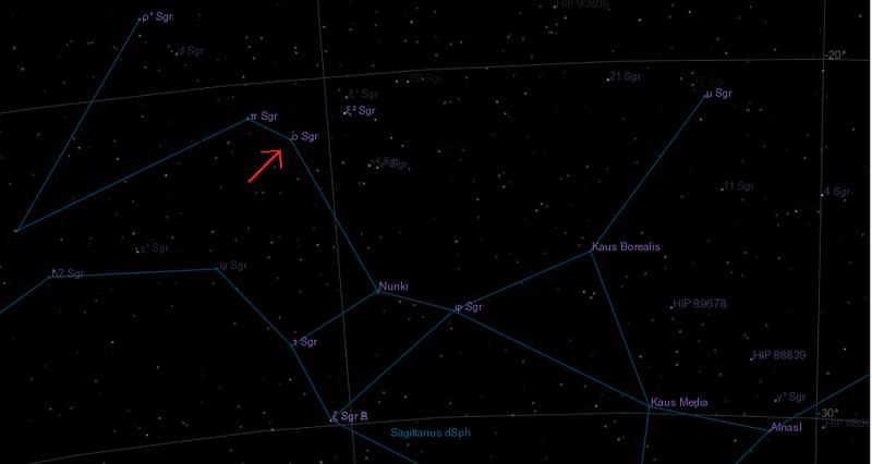 Manubrium Star, Omicron Sagittarii